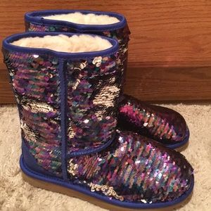 NWT UGGS sequins sparkly pure boots bling 6 cozy